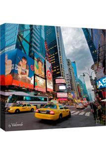 Quadro Impressão Digital Nova York Colorido 30X30Cm Uniart