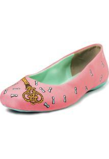 Sapatilha Cupcakes Shoes Bico Quadrado Portal Rosa