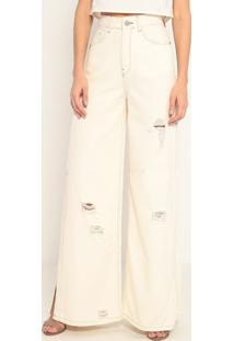 Calça High Pantalona Alemanhã- Off White- John Johnjohn John