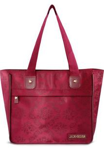 Bolsa Shopper Damasco- Vermelho Escuro- 26X29X14,5Cmjacki Design