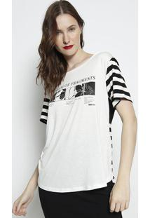 Blusa ''A Poem Of Fragments''- Off White & Preta- Foforum