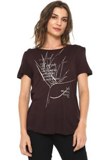 Camiseta Forum Estampada Marrom