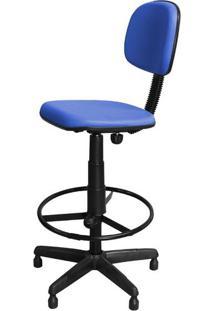 Cadeira Alta Caixa Azul Fixa Giratória Com Regulagem E Apoio Pés - Pethiflex