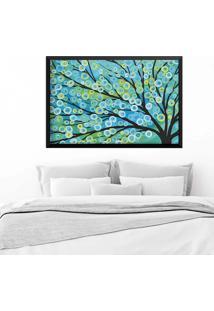Quadro Love Decor Com Moldura Árvore Painted Preto Grande