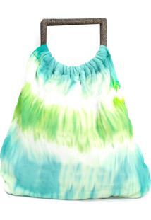Bolsa Carol Dali Shoes Tecido Tye Dye Azul - Tricae