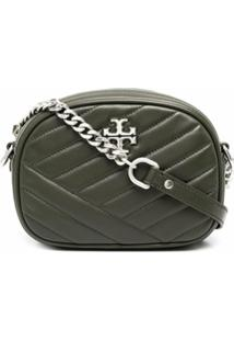 Tory Burch Kira Chevron Quilted Cross-Body Bag - Verde