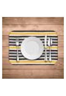 Jogo Americano Wevans Abstrato Stripes Kit Com 6 Pçs