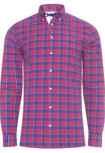 Camisa Masculina Wcc Authentic Oxford - Vermelho