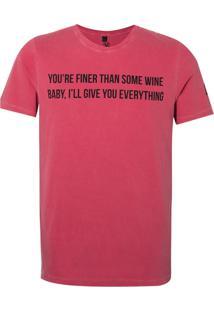 Camiseta John John Love Songs Red Masculina (Vermelho Escuro, Pp)