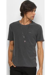 Camiseta Redley Básica Flamê Masculina - Masculino-Preto