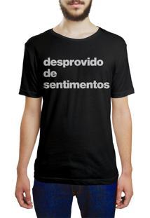 Camiseta Hunter Desprovido De Sentimentos Preta