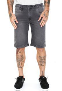Bermuda Jeans Volcom Reta Solver Cinza