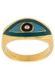 Nialaya Jewelry Anel Skyfall Evil Eye - Dourado