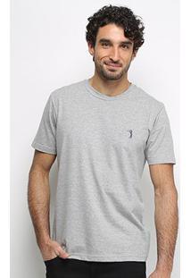 Camiseta Aleatory Masculino Básica Lisa Masculina - Masculino-Mescla
