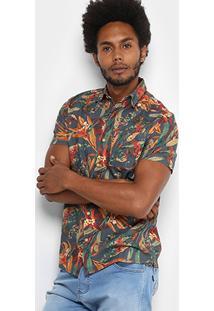 Camisa Redley Estampa Floricultura Masculina - Masculino