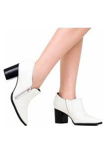 Sapato Zariff Scarpin Bico Fino Zariff Branco