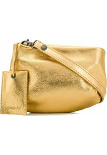 Marsèll Bolsa Transversal Com Zíper - Dourado