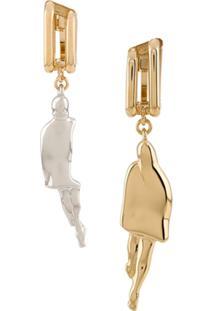 Chloé Abstract Drop Earrings - Dourado