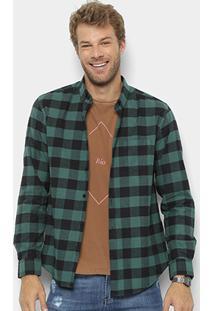 Camisa Xadrez Manga Longa Foxton Flanelada Color Masculina - Masculino