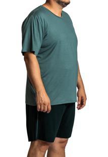 Pijama Recco Plus Size Viscose Verde
