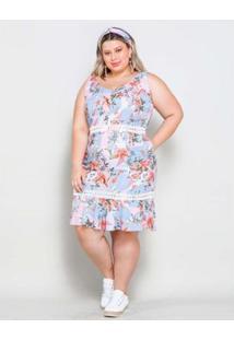 Vestido Plus Size Palank Curto Porto Alegre Feminino - Feminino