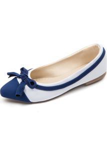 Sapatilha Azul E Branco Megachic - Azul - Feminino - Dafiti