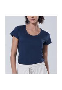 Camiseta Liz Easywear Manga Curta Azul Marinho