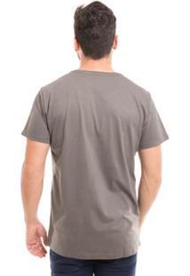 Camiseta Básica Osmoze Gola Redonda Com Logomarca - Masculino-Cinza