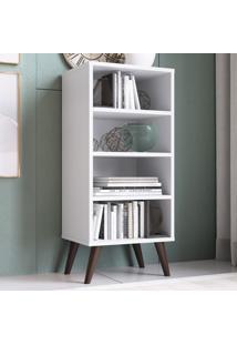 Estante Para Livros 3 Prateleiras Est100 Branco - Completa Móveis