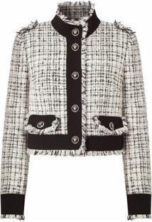 Dolce & Gabbana Jaqueta Cropped De Tweed - Branco