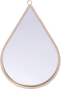 Espelho De Parede Metal Drop Shine Frame Dourado 20X1,4X30,5 Cm Urban