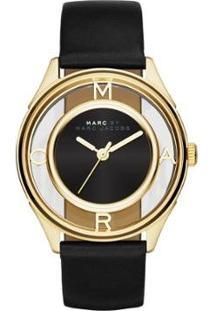 Relógio Marc Jacobs Tether Feminino - Feminino-Dourado