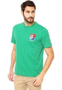 Camiseta Nautica Classic Fit Costura Verde