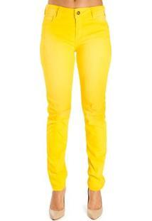 d2e40e1f8 ... Calça Sarja Skinny Colcci Feminina - Feminino-Amarelo