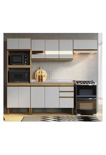 Cozinha Compacta Casablanca Casa Mia A3496 Mel E Off White
