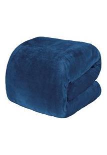 Cobertor Solteiro Blanket 300 Azul Jeans - Kacyumara