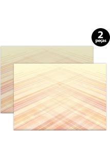 Jogo Americano Mdecore Abstrato 40X28Cm Colorido 2Pçs