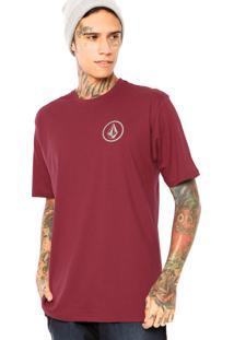 Camiseta Volcom Mini Circle Vinho