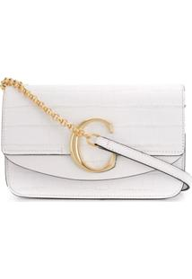 Chloé Clutch Com Corrente - Branco