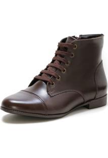 Bota Casual Couro Dia A Dia Doc Shoes Café - Kanui