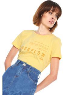 Camiseta Forum Lettering Let Amarela