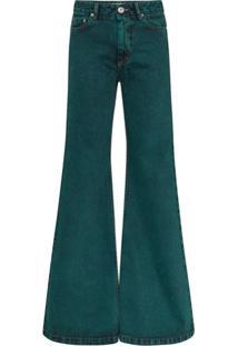Matthew Adams Dolan Calça Jeans Flare Com Efeito Desbotado - Verde
