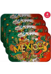 Jogo Americano Love Decor Wevans Mexico Kit Com 4 Pçs