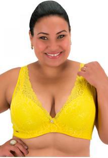 Sutiã Recriar Lingerie Anita Amarelo