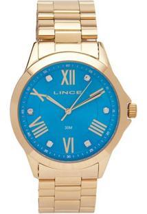 Relógio Feminino Analógico Lince A3Kx - Unissex-Dourado
