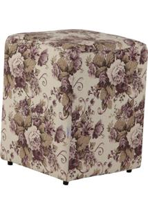 Puff Cubo Tecido Linho Provence 8292 Stay Puff
