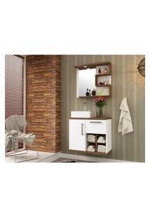 Gabinete Banheiro Mdf Design Exclusivo 70Cm Lilies Móveis