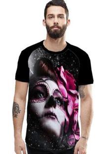 Camiseta Stompy Raglan Modelo 174 Masculina - Masculino-Preto