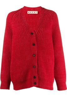 Marni Cardigan Oversized - Vermelho