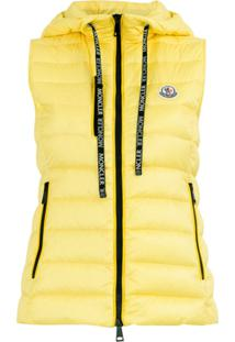 Moncler Feather Down Padded Gilet - Amarelo